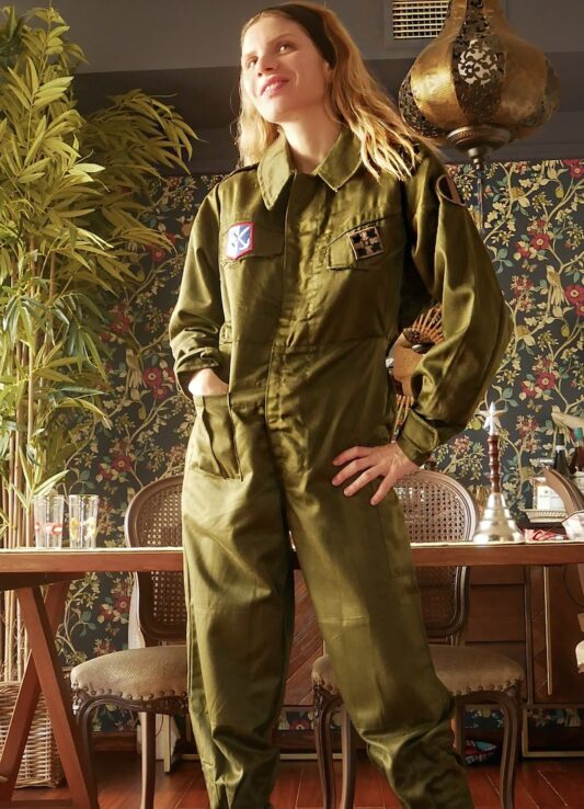 Celia Dragouni The Olive Army Jumpsuit