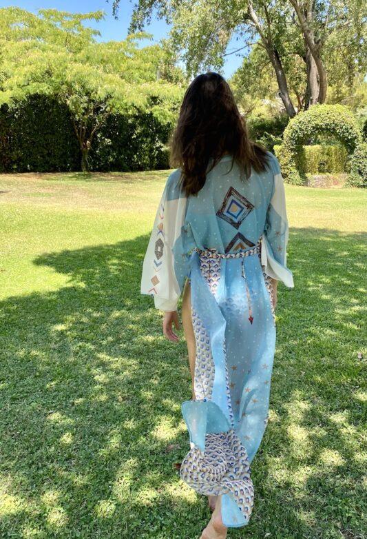 Celia Dragouni The Peaceful Arrow Kimono Robe
