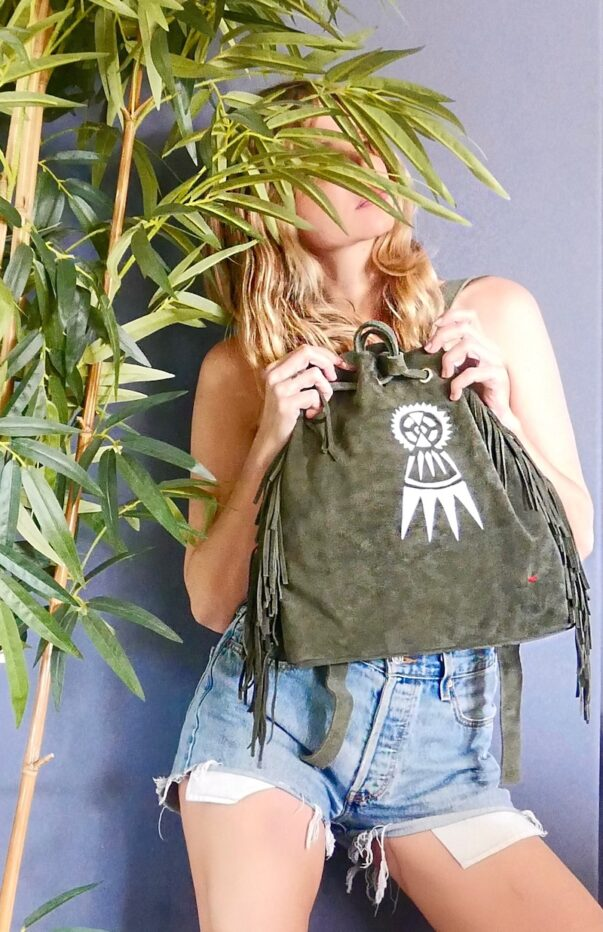 Celia Dragouni The Khaki Fearless Bagpack