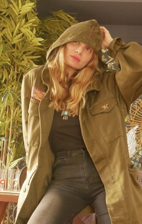 Celia Dragouni The Pink Buffalos Army Jacket