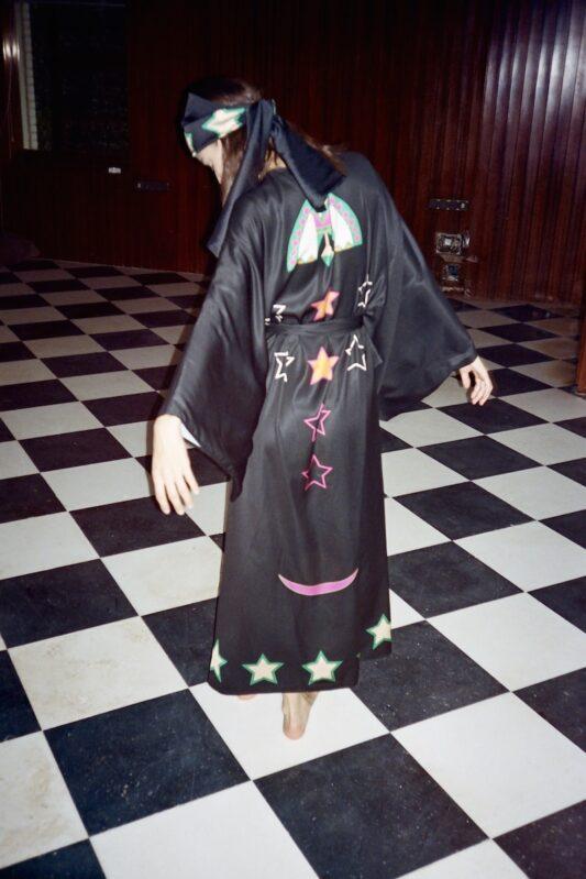 Celia Dragouni The Green Lucky Duck Kimono