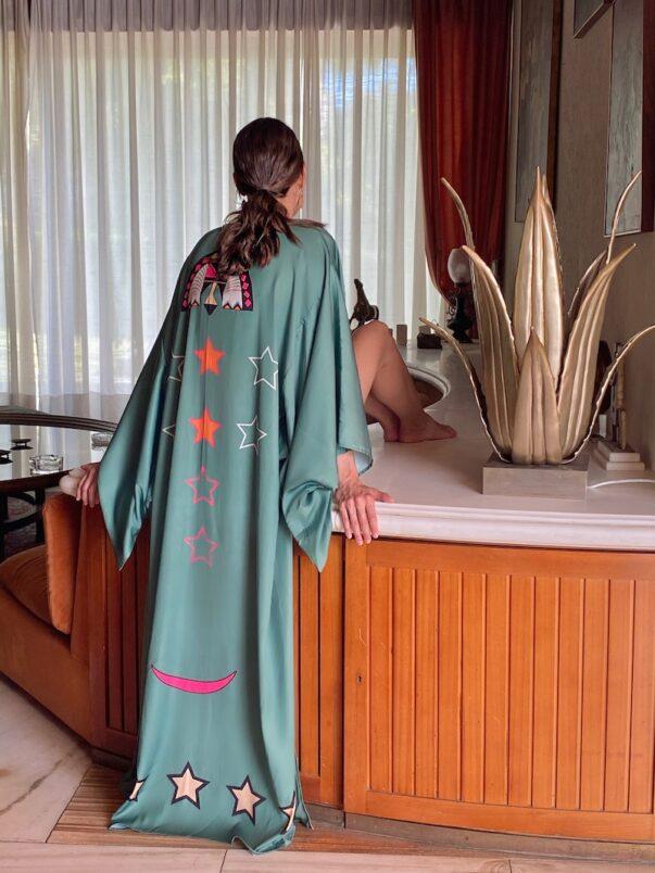 Celia Dragouni The Dusty Green Kimono