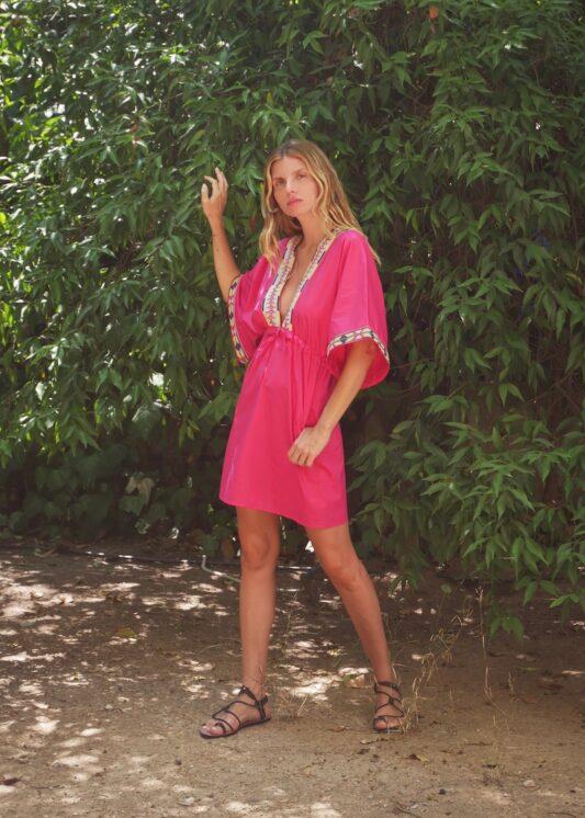 Celia Dragouni The Ariel Mini Kaftan Dress