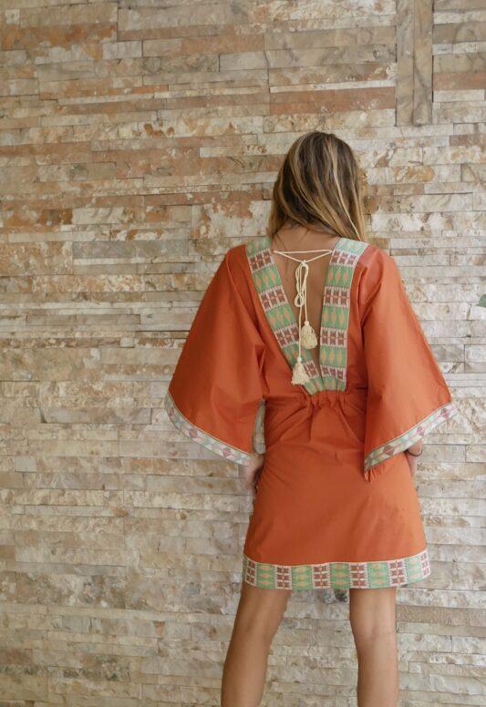Celia Dragouni The Bedelia Mini Kaftan Dress