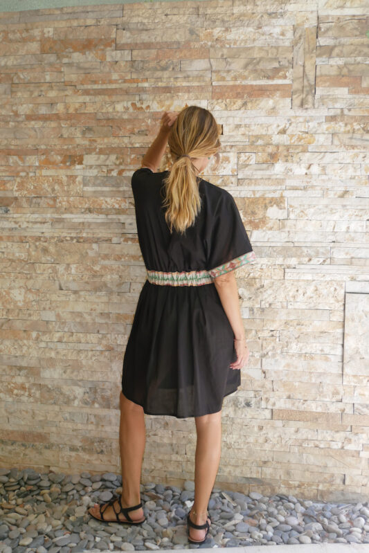 Celia Dragouni The Lomasi Mini Kaftan Dress