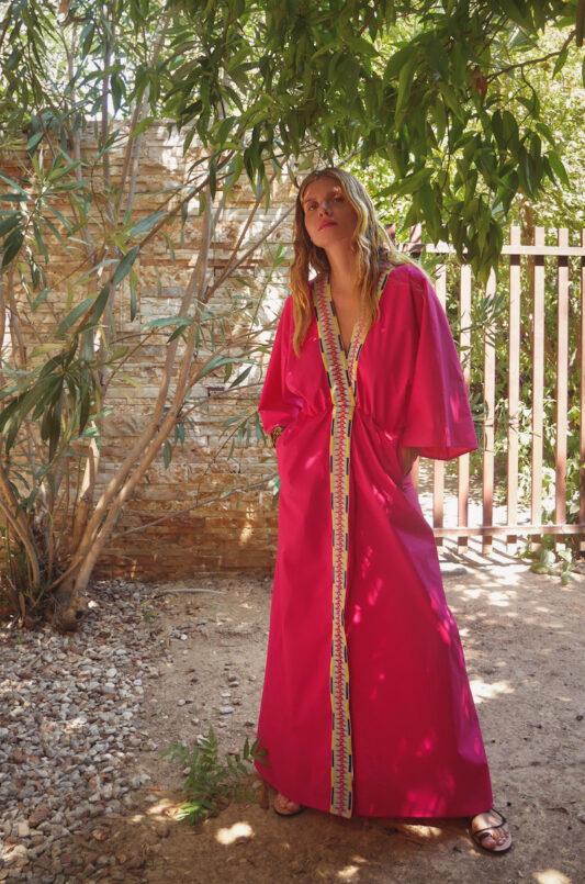 Celia Dragouni The Orenda Fussia Kimono Dress