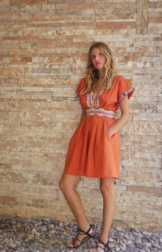 Celia Dragouni The Dakota Mini Kaftan Dress