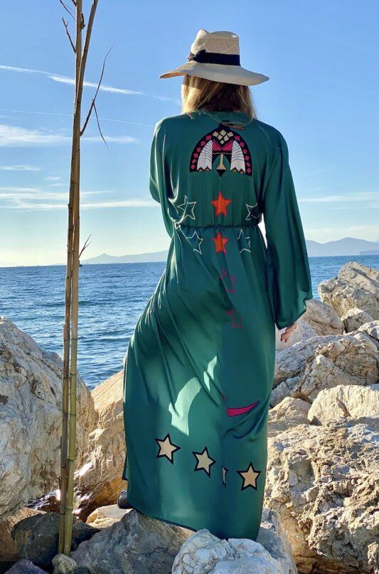 Celia Dragouni The Dusty Green Kimono Dress