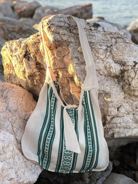 Celia Dragouni The Green Woven Bag