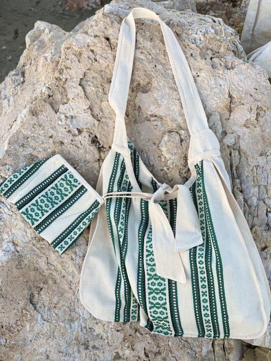 Celia Dragouni The Green Woven Bag