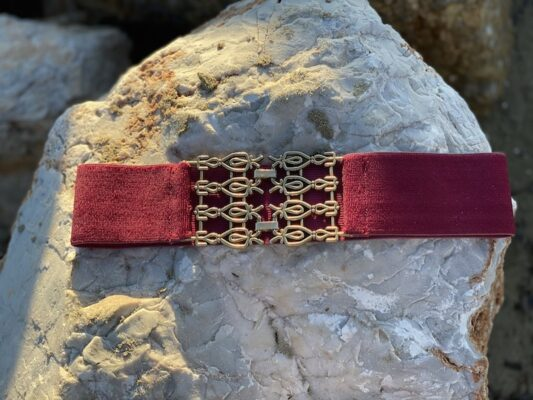 Celia Dragouni The Burgundy Elasticated Belt