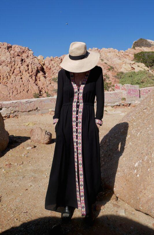 Celia Dragouni The Blue Moon Buttoned Dress