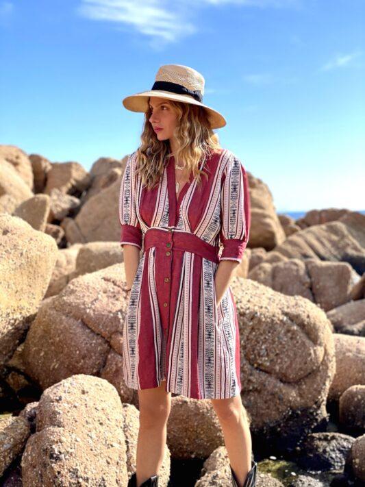 Celia Dragouni The Road Trip Red Woven Dress