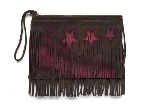 Celia Dragouni The Brown Star Addict Clutch