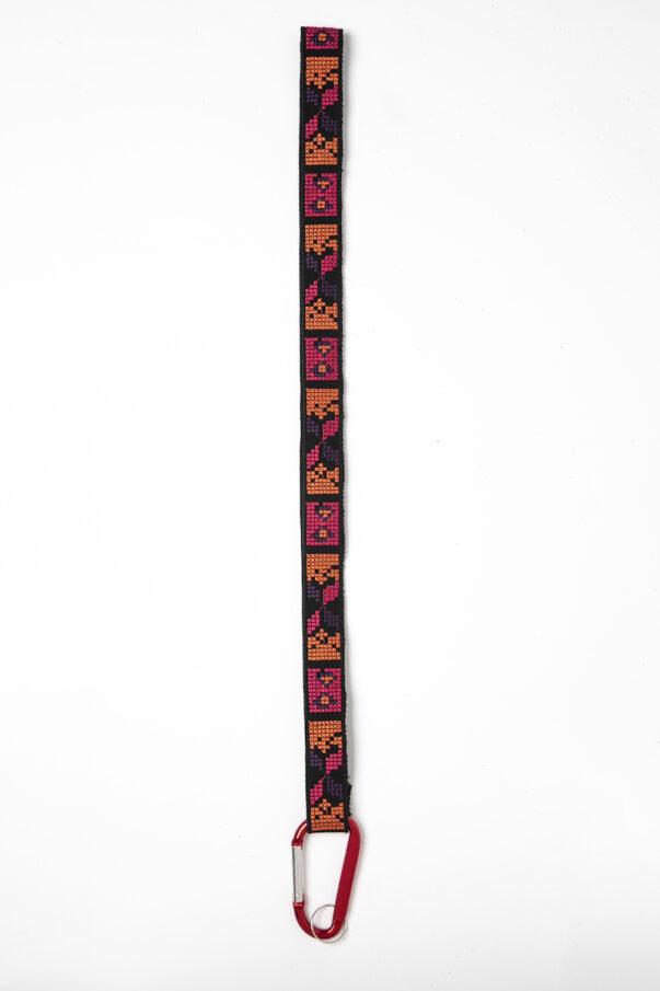 Celia Dragouni Red Ethnic Keychain Necklace