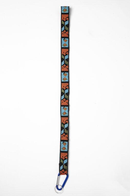 Celia Dragouni Turquoise Ethnic Keychain Necklace