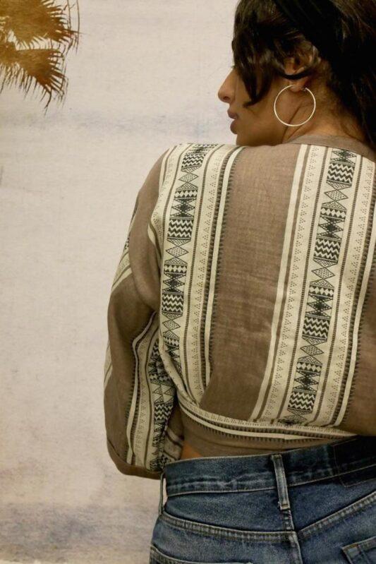 Celia Dragouni The Afro Wrap Top