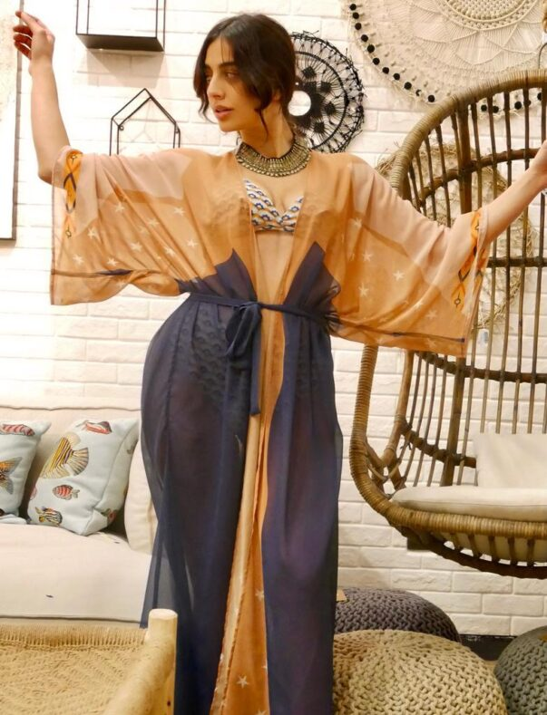Celia Dragouni The Blue Sun Kimono Robe