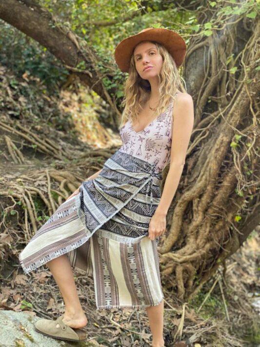 Celia Dragouni The Afro Vibes Pareo Skirt