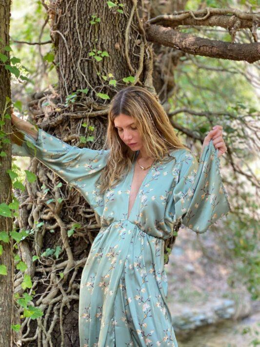 Celia Dragouni The Aponi Kimono Dress