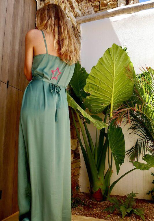 Celia Dragouni The Dusty Green Slip On Dress