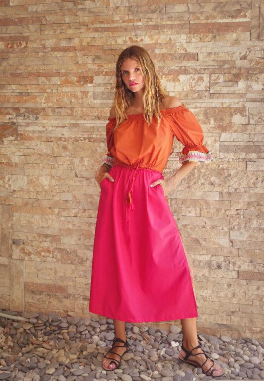 Celia Dragouni The Two Shade Happy Poplin Dress