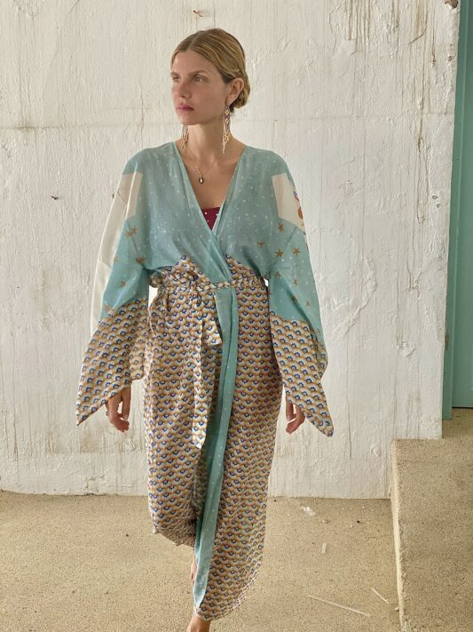Celia Dragouni The Peaceful Arrow Cotton Kimono