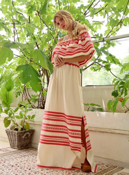 Celia Dragouni The Heidi Off Shoulder Long Dress