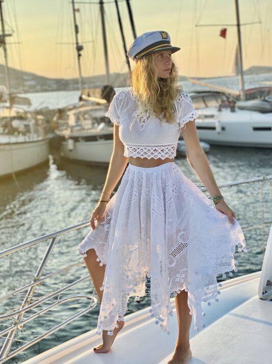 Celia Dragouni The Pon Pon Midi Skirt