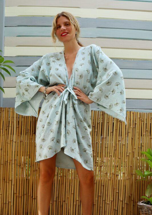 Celia Dragouni The Dandelion Kimono Dress