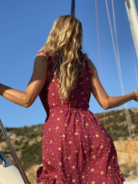 Celia Dragouni The Gold Stars Mini Dress