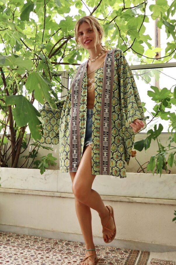 Celia Dragouni The Cotton Retro Field Kimono